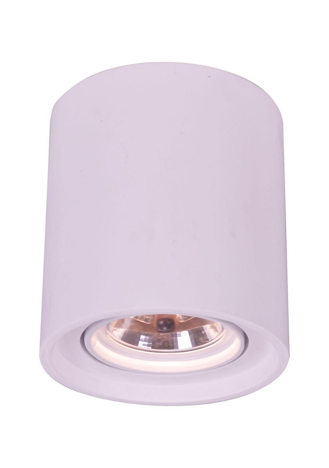 A9262PL-1WH TUBO Встраиваемый светильникA9262PL-1WH1xG5.3/ar111x50W; Светильник можно красить Материал: Арматура: Гипс Размер: 200x200x225 Цвет: Белый