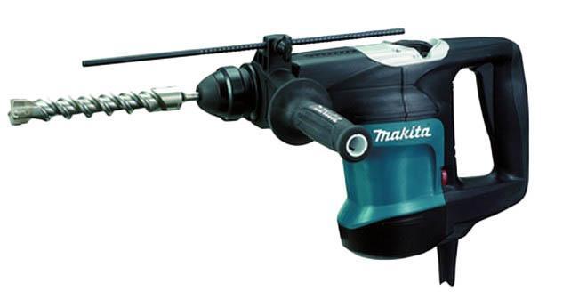 Makita HR3200C перфоратор SDS PlusHR3200СДомашний помощник Производитель ручного инструмента Makita создал модель HR3200С для использования как в быту, так и на производстве. Перфоратор предназначен для создания отверстий в металле, в дереве и других твердых материалах. В режиме «сверление с ударом» или «долбление» инструмент способен продолбить отверстие в бетоне, кирпиче, керамике. Отличная производительность При относительно не сложных видах работ, а также при эксплуатации инструмента на высоте вам необходим сравнительно легкий и производительный перфоратор. Именно таким является HR3200С от производителя Makita. Весом 4.8 кг, он снабжен мощным двигателем 850 Вт и длинным сетевым кабелем 4.8 м. Модель имеет функцию удара с энергией 5.5 Дж, что делает его отличным «убийцей» бетона и кирпича. Долбить или сверлить Самым популярным режимом большинства перфораторов является режим «сверления с ударом», при котором рабочая оснастка получает одновременно...