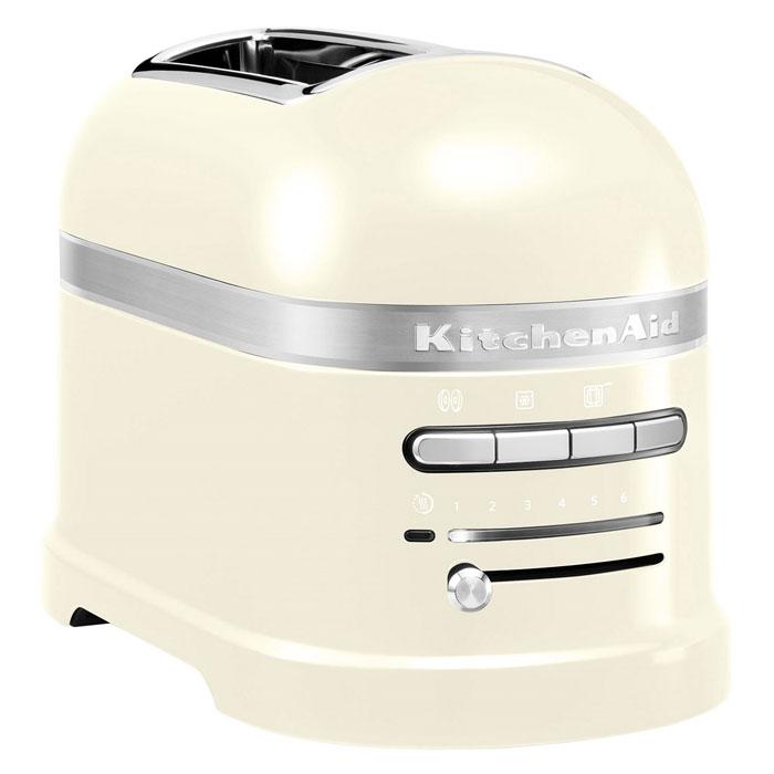 KitchenAid Artisan (5KMT2204EAC), Cream тостер5KMT2204EACKitchenAid Artisan 5KMT2204 - один из самых совершенных тостеров, представленных сегодня на рынке. Его классический дизайн послужит отличным дополнением любого интерьера кухни, кроме того, вы сможете выбрать цвет тостера в зависимости от своих предпочтений. Девять режимов работы позволяют получить хрустящую корочку от слегка золотистого до коричневого цвета. Когда тосты готовы, подается звуковой сигнал. Затем тостер поддерживает готовые хлебцы теплыми, пока их не вынут. Для тех, кто любит незажаренный теплый хлеб к завтраку, предусмотрена функция подогревания. Установив на верхнюю часть прибора решетку для разогрева выпечки, вы получите вкусные булочки, пирожки, круассаны, будто только вынутые из духовки. Надежность и долговечность техники KitchenAid определяется технологией производства. Цельнометаллический корпус покрывается ударопрочной, гигиеничной эмалью, все материалы и детали приборов проходят тщательную проверку, поэтому тостеры KitchenAid служат своим владельцам не...