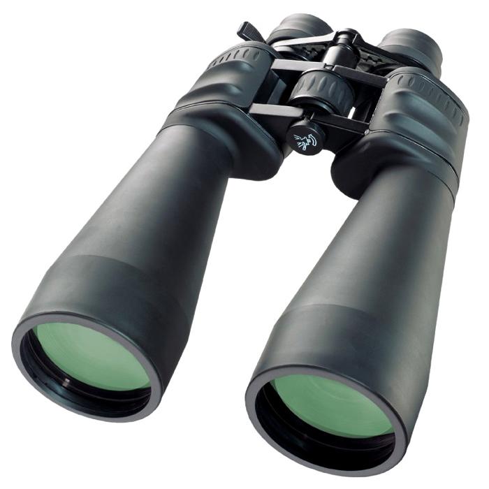 Bresser Spezial-Zoom 12-36x70 бинокль32317Бинокль Bresser Spezial-Zoomar 12-36x70 – мощная светосильная модель с переменным увеличением в диапазоне 12-36х. Высокие увеличения вызывают дрожание картинки, поэтому данная модель рекомендуется к использованию со штатива. Бинокль легко устанавливается на штатив при помощи специального адаптера (входит в комплект). Уникальной особенностью модели является то, что она подходит для астрономических наблюдений, это стало возможным благодаря 70-миллиметровой апертуре. Оптические характеристики бинокля Spezial-Zoomar 12-36x70 порадуют наблюдателя, ведь все оптические элементы изготавливаются из самого качественно стекла Bak-4 и имеют многослойное просветление. Именно это гарантирует превосходное качество передачи наблюдаемых объектов – картинка будет яркой, насыщенной и контрастной. Оптика надежно защищена обрезиненным корпусом, который не позволит влаге проникнуть внутрь прибора. Кроме того, резиновое покрытие приятно на ощупь и не скользит в руках. А входящие в комплект...