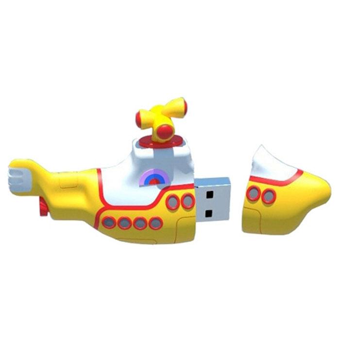 Iconik Желтая подводная лодка 8GB USB-накопительRB-YSUB-8GBФлеш-накопитель Iconik Желтая подводная лодка имеет весьма нестандартный дизайн. Накопитель ударопрочный и защищен резиновым корпусом, а высокая пропускная способность и поддержка различных операционных систем делают его незаменимым. Iconik Желтая подводная лодка - отличный выбор современного творческого человека, который любит яркие и нестандартные вещи.