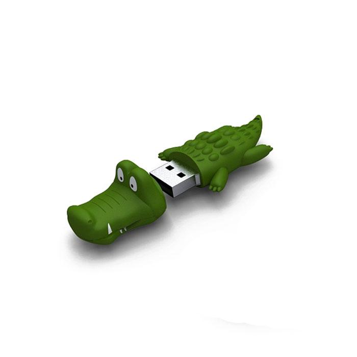 Iconik Крокодил 8GB USB-накопительRB-CROC-8GBФлеш-накопитель Iconik Крокодил имеет весьма нестандартный дизайн. Накопитель ударопрочный и защищен резиновым корпусом, а высокая пропускная способность и поддержка различных операционных систем делают его незаменимым. Iconik Крокодил - отличный выбор современного творческого человека, который любит яркие и нестандартные вещи.