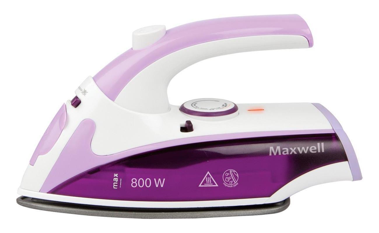 Maxwell MW-3057(VT) утюг дорожныйMW-3057(VT)Если путешествия – ваш стиль жизни или вам приходится часто выезжать в командировки, то вашим верным помощником несомненно станет утюг дорожный MW-VT. Это компактное и стильное устройство позволит безупречно выглядеть в любой ситуации, где бы вы ни находились! Благодаря мощности 800 Вт вы легко, быстро и качественно прогладите вещи из любых тканей. Даже одежду из деликатных тканей вы без проблем приведете в порядок - это позволит антипригарное покрытие подошвы утюга MW-VT.В дорожных утюгах обычно редко предусматривается функция вертикального отпаривания, однако в модели MW-VT она присутствует: теперь вы великолепно разгладите вещи, не снимая их в вешалки! Сэкономить пространство в вашей сумке или чемодане поможет удобная складная ручка. Гладьте с удовольствием!