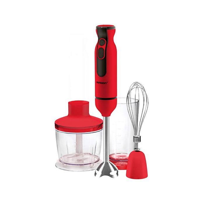 Oursson HB6060/RD, Red погружной блендерHB6060/RD RedУдобный и красивый блендер HB6060 с 9 уровнями мощности, измельчителем, венчиком и насадкой для смешивания представлен в трех цветах – темная вишня, слоновая кость и оранжевый. Модель имеет удобную рукоятку из высококачественного пластика, предусмотрен турбо режим. С таким универсальным помощником Вы сможете быстро и легко приготовить любимое блюдо!