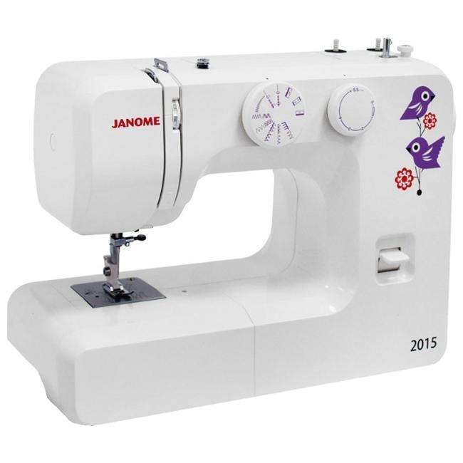 Janome 2015 швейная машина2015Швейная машина Janome 2015 - простая в использовании электро-механическая швейная машина, идеально подходит, как для начинающих любителей шитья, так и для более опытных. Тяжелая, железная, все, как вы любите, прекрасно справляется с любыми видами тканей.