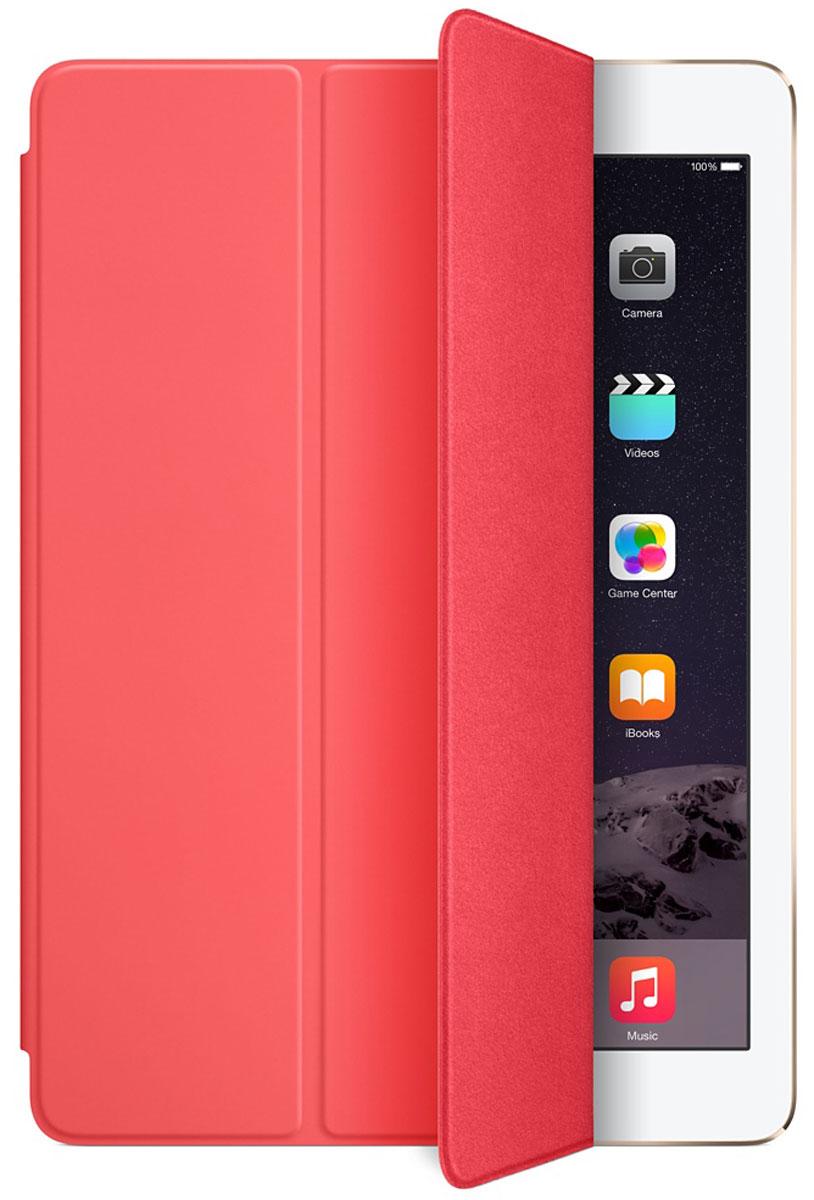 Apple Smart Cover чехол для iPad Air 2, PinkMGXK2ZM/AЛёгкая и прочная обложка Apple iPad Smart Cover полностью обновлена, чтобы соответствовать дизайну iPad Air 2. Она защищает дисплей планшета, не закрывая заднюю часть алюминиевого корпуса. Обложка изготовлена из мягкого прочного полиуретана и доступна в нескольких ярких цветах. А её мягкая подкладка из микрофибры того же цвета помогает поддерживать экран в чистоте. Крепление обложки идеально прилегает к корпусу планшета, а магниты надёжно удерживают её. При открытии чехла-обложки iPad Air автоматически выходит из режима сна, а при закрытии моментально возвращается в режим сна. Обложка Smart Cover может служить подставкой для набора текста. Сложите её, чтобы установить iPad Air 2 с удобным наклоном. Продуманная конструкция обложки Smart Cover также позволяет сложить её и превратить в идеальную подставку для общения в FaceTime и просмотра фильмов.