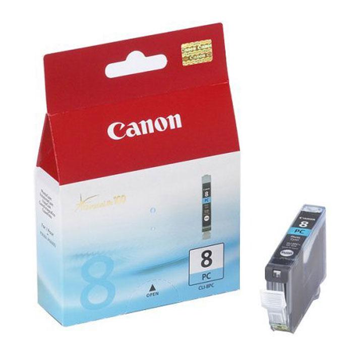 Canon CLI-8 PC, Photo Cyan картридж для струйных фотопринтеров0624B001Сменный картридж с чернилами Canon CLI-8 Photo для струйных фотопринтеров Canon PIXMA.Тип чернил: водорастворимые