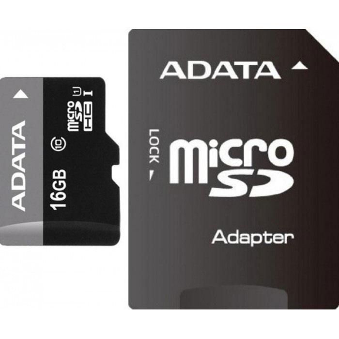 ADATA Premier microSDHC 16GB Class 10 UHS-I карта памяти + адаптерAUSDH16GUICL10-RA1Карта памяти ADATA Premier microSDHC Class 10 UHS-I отвечает новейшей спецификации SDA 3.0 и стандарту UHS- I (сверхвысокая скорость 1, класс скорости 10 по SD 2.0). В карте памяти реализована технология кода с исправлением ошибок (Error-Correction Code, ECC); кроме того, она чрезвычайно устойчива к низким температурам и рентгеновскому излучению, что делает ее одной из самых стойких карт памяти в мире.