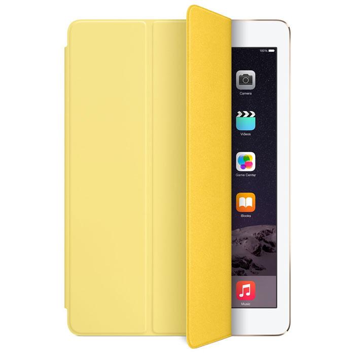 Apple Smart Cover чехол для iPad Air 2, YellowMGXN2ZM/AЛёгкая и прочная обложка Apple iPad Smart Cover полностью обновлена, чтобы соответствовать дизайну iPad Air 2. Она защищает дисплей планшета, не закрывая заднюю часть алюминиевого корпуса. Обложка изготовлена из мягкого прочного полиуретана и доступна в нескольких ярких цветах. А её мягкая подкладка из микрофибры того же цвета помогает поддерживать экран в чистоте. Крепление обложки идеально прилегает к корпусу планшета, а магниты надёжно удерживают её. При открытии чехла-обложки iPad Air автоматически выходит из режима сна, а при закрытии моментально возвращается в режим сна. Обложка Smart Cover может служить подставкой для набора текста. Сложите её, чтобы установить iPad Air 2 с удобным наклоном. Продуманная конструкция обложки Smart Cover также позволяет сложить её и превратить в идеальную подставку для общения в FaceTime и просмотра фильмов.