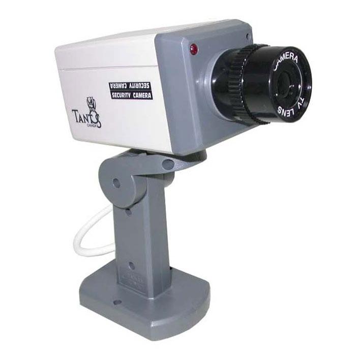 Tantos TAF 70-10 муляж видеокамеры00-00000985Tantos TAF 70-10 - муляж внутренней видеокамеры с активными элементами. Прекрасно подходит для использования в доме, офисе, саду или на охраняемых территориях. Муляж камеры имеет поворотный сканирующий механизм, светодиодный индикатор активности, детектор движения.