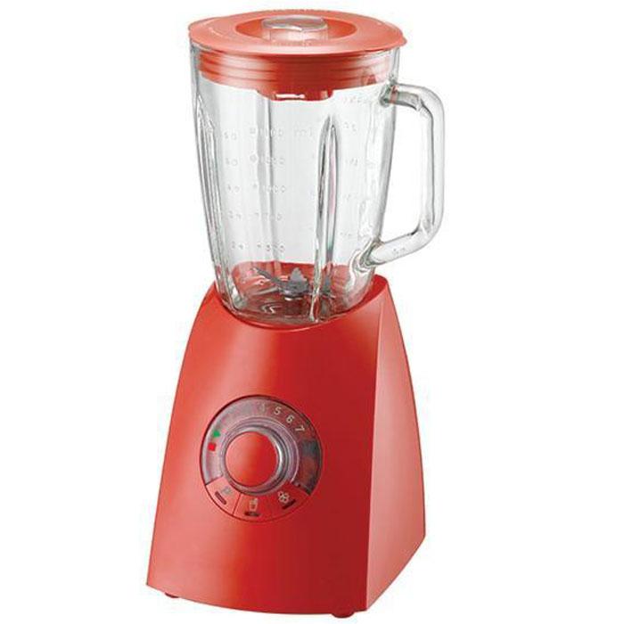 Oursson BL0640G/RD, Red настольный блендерBL0640G/RD RedБлендер Oursson BL0640G – электрический бытовой прибор, предназначенный для измельчения пищи. Особенностью блендера является его конструкция: на основание, в котором расположен двигатель, надевается чаша, в которой работает лопастной нож. С его помощью можно готовить пюре и муссы, колоть лед, взбивать и смешивать напитки. Поворотный переключатель с кнопками поможет выбрать необходимую программу измельчения, а также установить нужную скорость от 1 до 7 или выбрать режим быстрого смешивания. Функция легкой очистки сделает уход за прибором значительнее удобнее и проще.