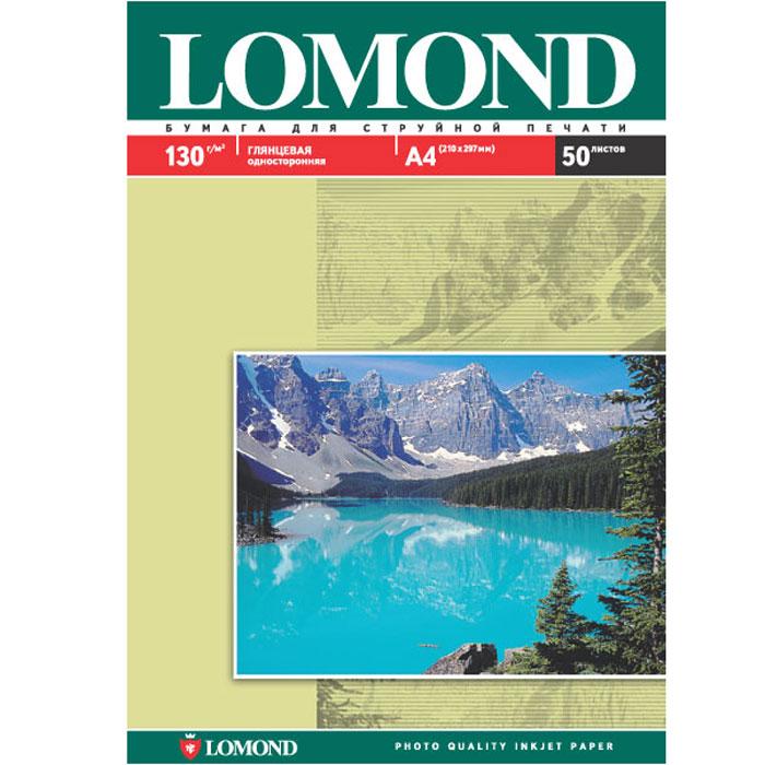 Lomond 130/A4/50л глянцевая односторонняя бумага для струйной печати (0102017)0102017Размер: 210 х 297 мм Основа: RC (Resin Coated) Тип покрытия: Ink Jet Coated