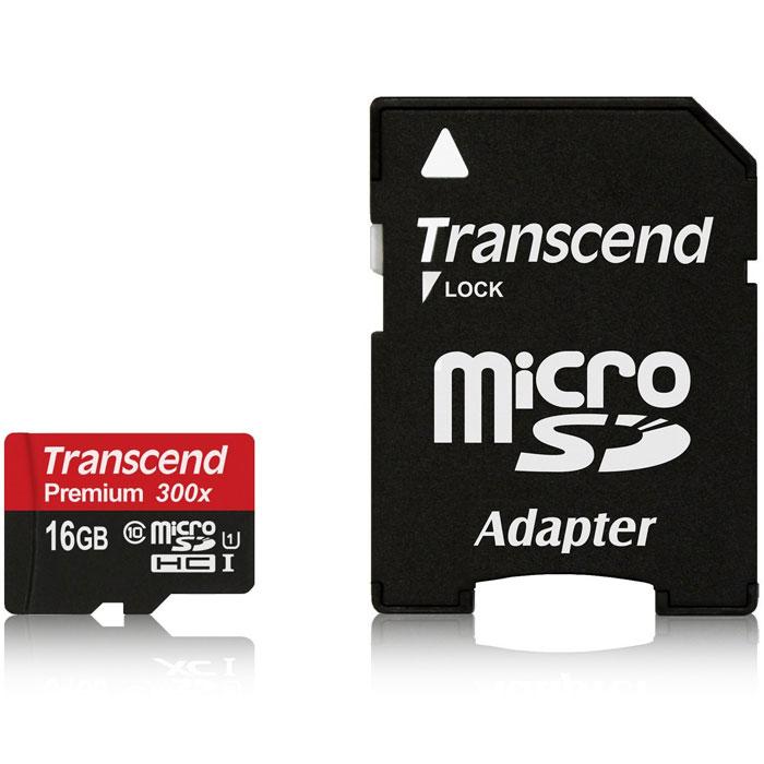 Transcend microSDHC Class 10 UHS-I 300x 16GB карта памяти с адаптеромTS16GUSDU1Карты памяти Transcend microSDHC UHS-I поддерживают спецификацию Ultra High Speed Class 1 и предназначены для повышения эффективности работы вашего смартфона и планшета. Карты памяти включают технологию нового поколения и обеспечивают максимально возможное быстродействие во время работы требующих большое количество памяти мобильных приложений и игр, а также обеспечивают плавные запись и воспроизведение видео в разрешении Full HD. Встроенная технология коррекции ошибок Error Correcting Code (ECC) для обнаружения и исправления ошибок при передаче данных. Внимание: перед оформлением заказа убедитесь в поддержке вашим электронным устройством карт памяти данного объема.