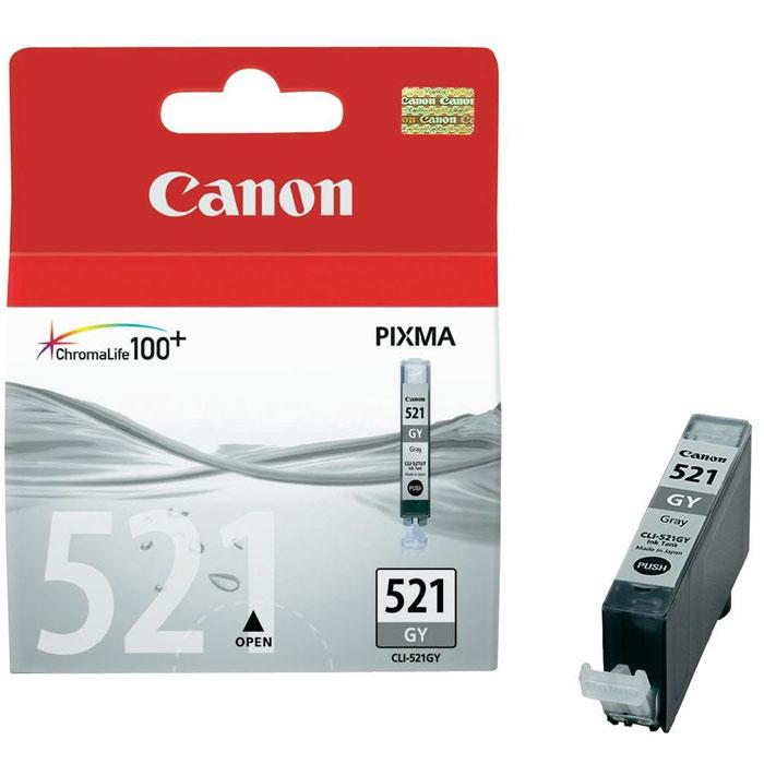 Canon CLI-521GY Gray2937B004Картридж с цветными чернилами Canon CLI-521 для струйных принтеров и МФУ Canon.