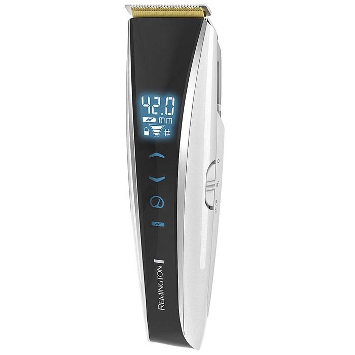 Remington HC5960 машинка для стрижки волосHC5960Усовершенствованная машинка для стрижки Remington HC5960 подарит вам возможность создания множества образов, с помощью стрижки волос, а также придания им текстуры или формы. Оснащенный сенсорным цифровым дисплеем, этот прибор позволит вам с легкостью настроить желаемые длину и скорость. Самозатачивающиеся лезвия с покрытием из титана обеспечат точную стрижку с каждым движением. Кроме того, благодаря мотору Pro Power, который теперь в два раза более мощный, и механизированным насадкам-гребням вы сможете полностью контролировать стрижку и получить выдающийся результат. Эта машинка для стрижки от Remington может похвастаться усовершенствованными технологиями и качеством, а также стильным дизайном.
