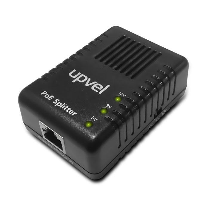 UPVEL UP-104GS PoE-сплиттерUP-104GSГигабитный PoE-сплиттер UP-104GS разделяет сигнал, передаваемый по витой паре от PoE-коммутатора или PoE- инжектора, на две составляющие - электропитание и данные - и позволяет подключить к локальной сети устройство, не поддерживающее технологию Power over Ethernet и для питания которого в требуемом месте установки нет розетки. Таким образом, исключается необходимость в прокладывании нового электрического кабеля к месту установки устройства. Использование PoE-сплиттера является оптимальным решением при установке таких устройств, как точки доступа или IP-камеры, в местах, где нет розеток сети питания (например, на крыше здания или на потолке), а прокладывание новых электрических кабелей затруднительно или невозможно. Однако PoE-сплиттер UP-104GS не только позволяет обойтись без отдельного кабеля питания. Если подключить PoE-коммутатор к источнику бесперебойного питания (UPS), то через PoE-сплиттеры можно обеспечить бесперебойное питание...