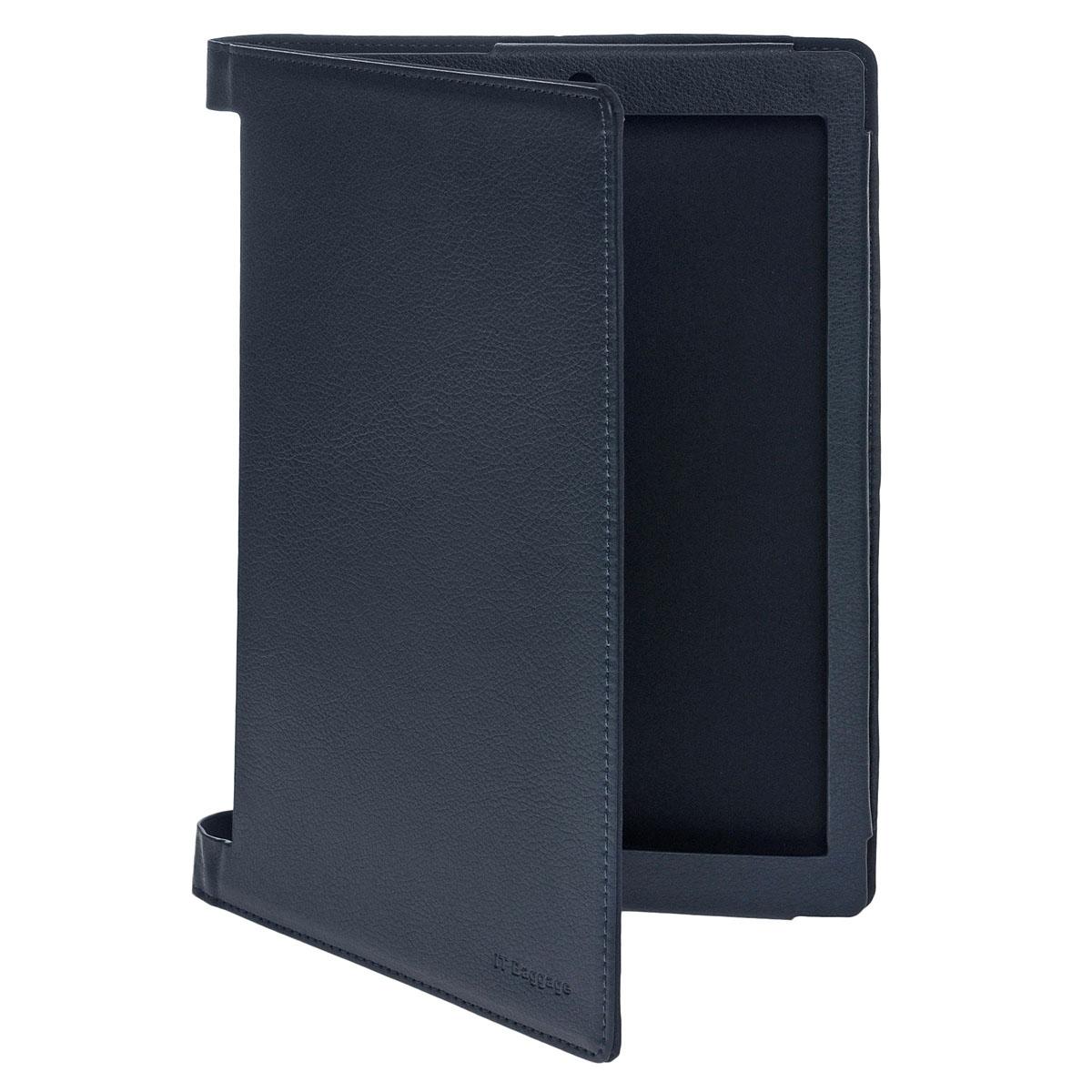 IT Baggage чехол для Lenovo Yoga Tablet 2 10, BlueITLNY210-4Чехол IT Baggage для Lenovo Yoga Tablet 2 10 - это стильный и лаконичный аксессуар, позволяющий сохранить планшет в идеальном состоянии. Он имеет свободный доступ ко всем разъемам устройства, и в то же время надежно удерживает технику, а обложка защищает корпус и дисплей от появления царапин, налипания пыли. Также чехол можно использовать как подставку для чтения или просмотра фильмов.
