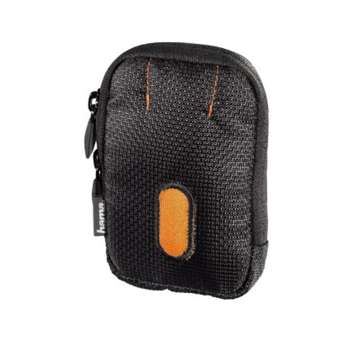 Hama Sorento 40C, Black Orange чехол для фотокамеры023101Сумка Hama Sorento 40C для цифровой фотокамеры. Имеет отделение для карт памяти и аксессуаров, ремешок для переноски. Так же снащена петлей для ношения на поясе.