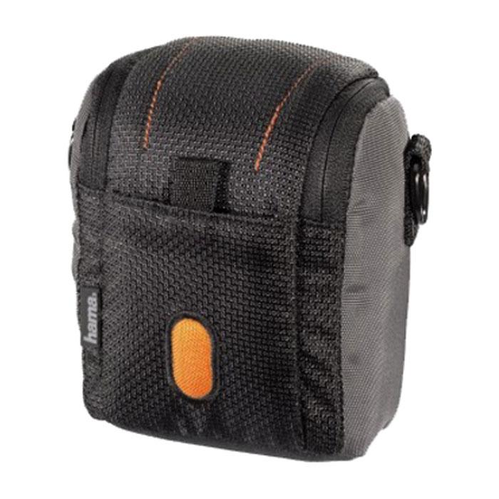 Hama Sorento 70M, Black Orange чехол для фотокамеры023111Hama Sorento 70M - удобная и компактная сумка-чехол для фотокамеры, которая надежно сохранит аппарат в целости и сохранности, значительно увеличив срок его службы. Данная модель изготовлена из высококачественного нейлона, а внутри имеет мягкую подкладку, предотвращающую любые механические повреждения. В переноске этот чехол тоже очень удобен - на нем предусмотрено крепление на пояс, а если оно по какой-то причине не подходит, можно воспользоваться съемным наплечным ремнем.