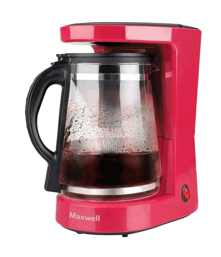 Maxwell MW-1656 (BD) кофеваркаMW-1656 (BD)Кофеварка c функцией заваривания чая Maxwell MW-1656 - это уникальное устройство, не имеющее конкурентов на российском рынке. Такой помощник обязательно придется по душе кофеманам и любителям чая - ведь устройство позволит идеально приготовить ароматный молотый кофе и вкуснейший чай. Одним нажатием на соответствующую кнопку в колбе объемом 1,2 л вы приготовите любимые напитки сразу на 10 чашек для большой компании гостей. Сохранить напитки горячими позволит нагревающаяся подставка для поддержания температуры с функцией автоотключения. Ухаживать за устройством вы можете легко и быстро благодаря стальному фильтру для чая и съемному нейлоновому для кофе.