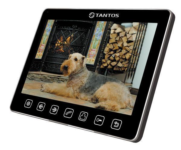 Tantos Sherlock, Black монитор видеодомофона00-00017045Дизайн монитора Tantos Sherlock прост и изящен, все управление осуществляется сенсорными кнопками. Подключение 2-х вызывных панелей и 2-х видеокамер Возможность подключения до 4-х мониторов в одной системе с широкими возможностями адресного интеркома Возможность работы как в индивидуальном, так и в многоквартирном режиме Совместимость с большинством моделей отечественных вызывных панелей