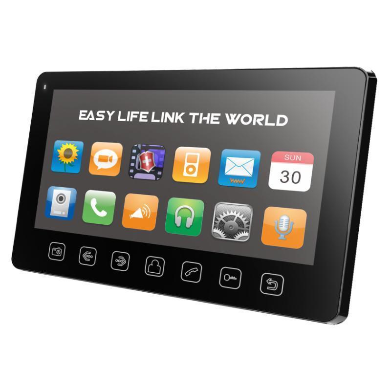 Tantos Prime Slim, Black монитор видеодомофона00-00016194Prime Slim (black) Tantos Видеодомофон с 7дисплеем (управление кнопками на консоли) сверх тонкий корпус!. Русифицированное экранное меню, простое управление функциями. Интерком, режим прослушивания других мониторов, функция общего вызова. Поддержка micro SD карты, встроенный DVR с детектором движения, автоответчик (micro SD). Поддержка мультимедиа: фоторамка, воспроизведение музыки. Цвет корпуса: белый или черный. Питание: пасивное PoE, вынесенный блок питания нового поколения удобно размещается в распаечной коробке или электро щитке. (220В/15В)