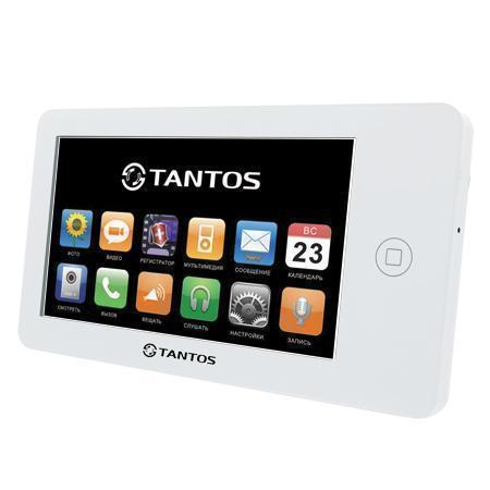 Tantos NEO, White монитор домофона00-00014414Классический вариант монитора 7 дюймов. Ничего лишнего, идеальный вариант дляофиса или квартиры с пожилыми людьми. Видеодомофон позволяет осуществлять внутреннюю видеосвязь между абонентами жилого помещения. Предназначен для возможности дистанционного наблюдения пространства перед входной дверью и организации двухсторонней аудио связи с посетителем. К монитору подключаются все самые распространенные вызывные панели отечественных и зарубежных производителей. Соединение с панелями 4-х проводное. Так же возможно подключение дополнительного оборудования: видеокамеры, вызывные панели или мониторы.