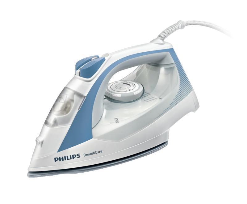 Philips GC3569/02 утюгGC3569/02Большой резервуар для воды Возможность гладить дольше без частого долива воды благодаря большому резервуару емкостью 400мл Система капля-стоп Этот паровой утюг Philips оснащен системой капля-стоп, поэтому вы сможете гладить даже деликатные ткани при низкой температуре, не беспокоясь о появлении пятен воды на одежды. Подача пара до 40 г/мин Паровой утюг Philips обеспечивает постоянную подачу пара до 40 г/мин, обеспечивая оптимальное количество пара для разглаживания складок Двойная система очистки от накипи Паровой удар до 160 г