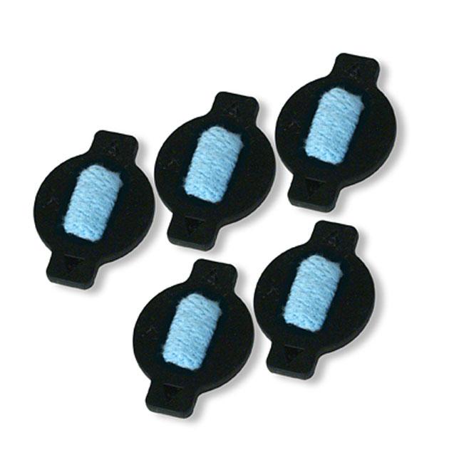iRobot дозатор для Braava 380, 5 шт4408924Комплект дозаторов (клапанов) для робота-пылесоса Braava 380. Клапаны предназначены для фирменного контейнера Pro-Clean. Клапан выполнен из специальной резины, в конструкции используется тряпочный антибактериальный фитиль для равномерной подачи моющей жидкости на микрофибру. Конструкция предусматривает легкое снятие и установку клапана в контейнер.