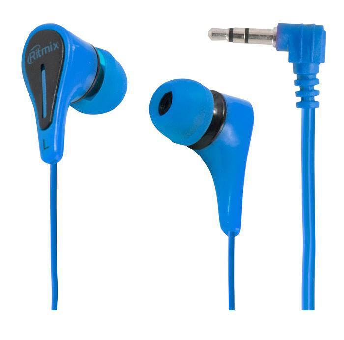 Ritmix RH-012, Blue наушникиRH-012 BlueRitmix RH-012 – это портативные наушники-вкладыши с качественным сбалансированным звуком. Кабель стандартной длины штекером Г-образной формы