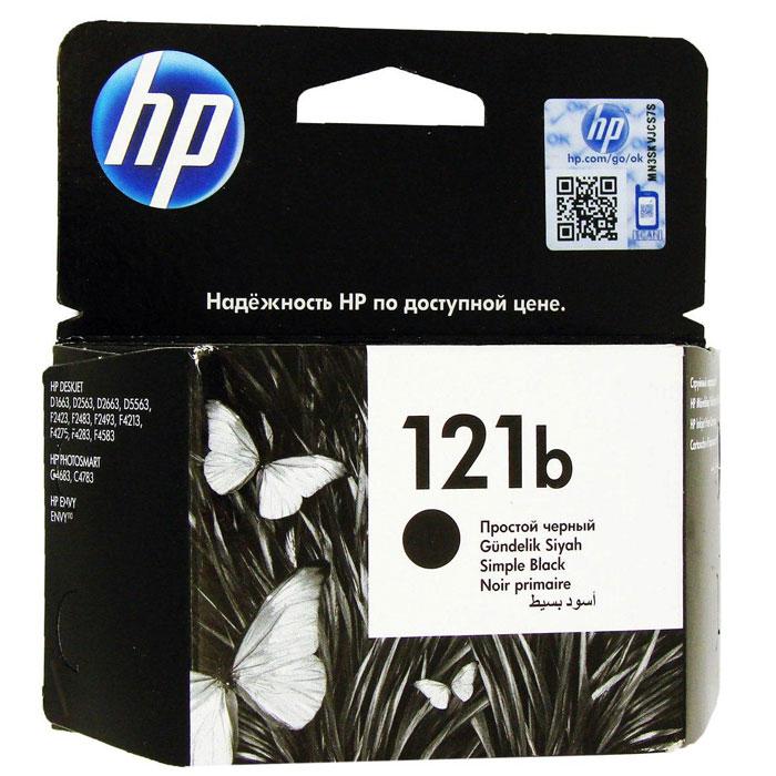 HP CC636HE (121b), Black струйный картриджCC636HEКартридж HP 121b с черными чернилами для печати черно-белых текстов. Печатайте текстовые документы на