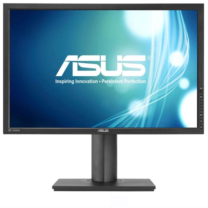 ASUS PB248Q, Black монитор90LMGH001Q02251C-Благодаря высококачественной IPS-матрице с разрешением 1920 x 1200 пикселей и соотношением сторон 16:10 монитор Asus PB248Q способен воспроизводить 100% цветового пространства sRGB и 72% NTSC. Кроме того, изображение не претерпевает искажений цветопередачи при изменении угла, под которым пользователь смотрит на экран.Технология ASCR (ASUS Smart Contrast Ratio) служит для автоматического изменения яркости подсветки в соответствии с характером текущего изображения. Она позволяет добиться высокой контрастности на уровне 80000000:1 и будет особенно полезной при просмотре фильмов. Максимальная же яркость этого монитора составляет 300 кд/м2. Данный монитор позволяет гибко настраивать цветопередачу, используя шесть координат (красный, зеленый, синий, циан, пурпурный и желтый).Быстрое среднее время отклика – всего 6 мс (при переключении между полутонами) – обеспечивает отсутствие темных «шлейфов» позади движущихся объектов и плавное воспроизведение видео. Игровые сцены на экране PB248Q выглядят максимально четко и реалистично.Технология улучшения изображения Splendid использует цветовой процессор, который для повышения качества изображения и точности цветопередачи анализирует тип приложения и соответствующим образом оптимизирует параметры изображения. С помощью кнопки управления пользователь может быстро выбрать один из шести режимов отображения (Пейзажный, Театральный, sRGB, Стандартный и два пользовательских режима).Специальный мини-джойстик обеспечивает доступ к функции QuickFit, а также всем настройкам экранного меню. Для удобного управления PB248Q оснащен двумя кнопками, к которым для быстрого доступа «привязываются» наиболее часто используемые команды меню. Эксклюзивная функция QuickFit представляет собой виртуальную линейку, которую можно отобразить на экране нажатием горячей клавиши, чтобы понять, насколько изображение соответствует тому или иному формату, не распечатывая его на бумаге. Эргономичная подставка данного монито