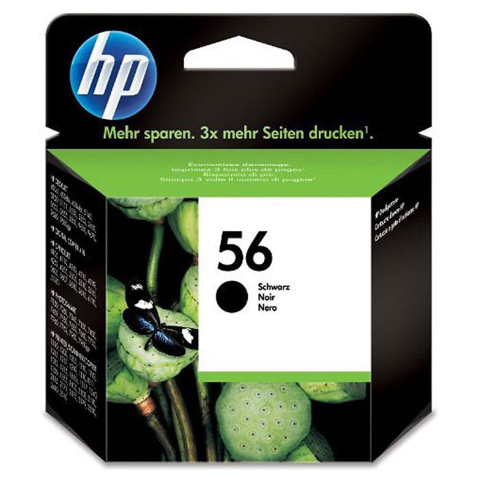HP C6656AE (56), Black струйный картриджC6656AEЧёрный струйный картридж HP 56 с запатентованными пигментными чернилами обеспечивает надёжный результат, способный удовлетворить самые разнообразные потребности в печати. Надёжный и простой в установке картридж и чернила со специальной формулой обеспечивают чёткую, стойкую к выцветанию печать.