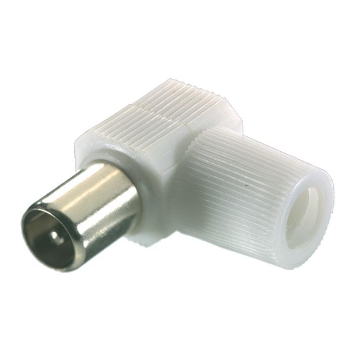 Vivanco антенный штекер угловой коаксиальный (штырь)43007Угловой штекер Vivanco предназначен для подключения коаксиального кабеля с диаметром от 4,5 до 7,5 мм