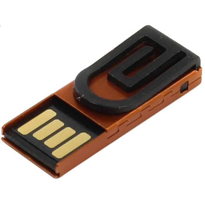 Iconik Зажим 8GB, Orange USB-накопитель (под логотип)