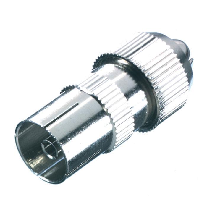 Vivanco антенный штекер коаксиальный (гнездо), металл
