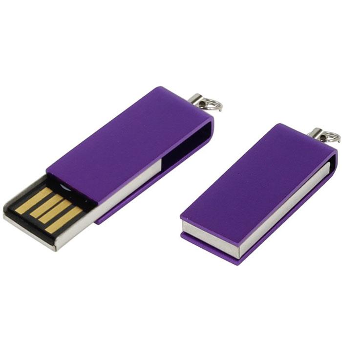Iconik Свивел 8GB, Purple USB-накопитель (под логотип)