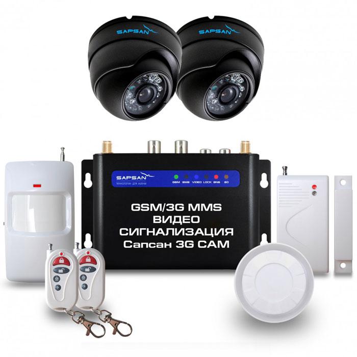 Sapsan 3G CAM Дом GSM-сигнализация (2 камеры)Sapsan 3G CAM 2к (Дом)Беспроводная система Sapsan MMS 3G-CAM предназначена для дистанционного контроля и охраны недвижимости, путем получения SMS сообщений, MMS сообщений и звонков на заранее записанные номера телефонов абонентов (до 10 номеров). В данной системе есть возможность подключения двух аналоговых камер, кроме того, система также совершает видеозвонок с последующей записью на SD карту. На данный момент это самая инновационная и совершенная система , которая сможет защитит практически любой вид имущества, не только от злоумышленников, но от техногенных случаев. Стальной и прочный корпус делает систему максимально приспособленной к любому техногенному случаю, будь то пожар или человеческий фактор. Система приспособлена работать в суровых условиях, готова к сильным перепадам температур от -40С до +50С, что является большим преимуществом на российском рынке. Выносной морозостойкий и влагозащищенный термодатчик, благодаря которому осуществляется контроль отопления. Датчик...