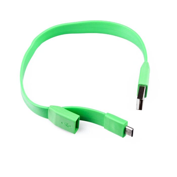 Liberty Project Micro-USB дата-кабель Плоский браслет, GreenSM001784Кабель Liberty Project Плоский браслет предназначен для передачи данных с вашего устройства на персональный компьютер, а также зарядки от источников питания с USB выходом.