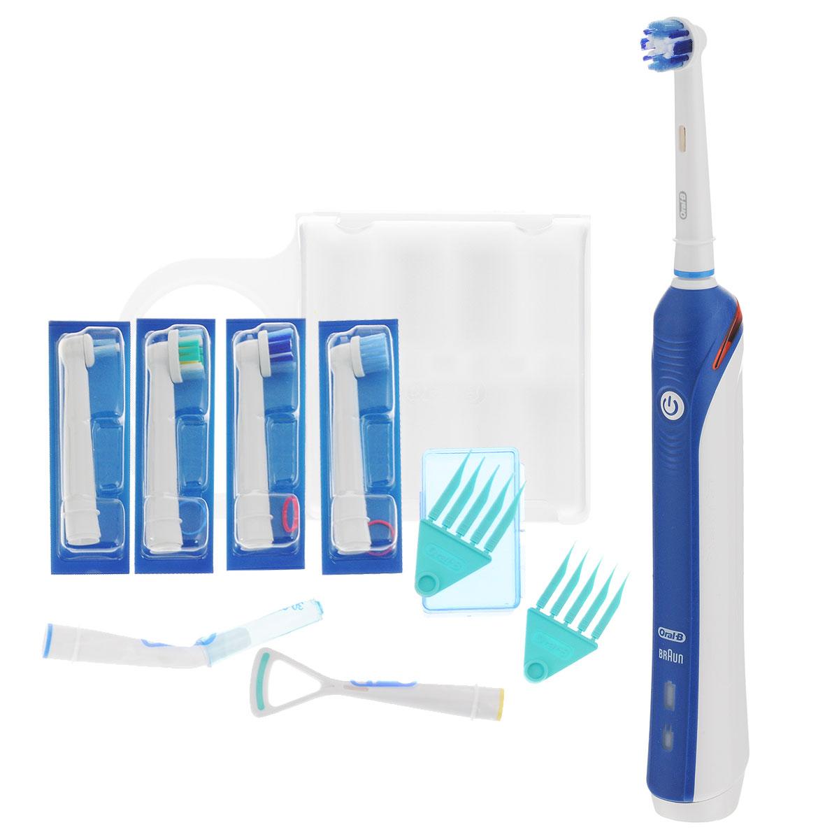 Oral-B Professional Care 3000 (D20.575.3) электрическая зубная щеткаD20.575.3Для достижения оптимальных результатов чистки, Oral-B Professional Care 3000 удаляет до 100% налета, больше, чем другие зубные щетки. Во время чистки щетка совершает 40000 пульсаций и 8800 возвратно-вращательных движений в минуту. Щетинки колеблются и тщательно окружают зубы, разрушая налет и удаляя его. 3 простых в использовании режима чистки: Ежедневная чистка: для исключительный чистки зубов и десен Бережная чистка: мягкое, но тщательное очищение зубов и чувствительных зон Полировка: полирует и возвращает натуральную белизну зубам Инновационная красная полоска света, встроенная в рукоятку щетки начинает мигать, подавая Вам видимый сигнал. Чтобы получить лучшие результаты: профессиональный таймер гарантирует, что вы осуществляете чистку нужное время (стоматологи рекомендуют 2 минуты). Короткий прерывающийся звук с 30-секундным интервалом, который вы можете услышать и почувствовать, напоминает Вам, о том что нужно...
