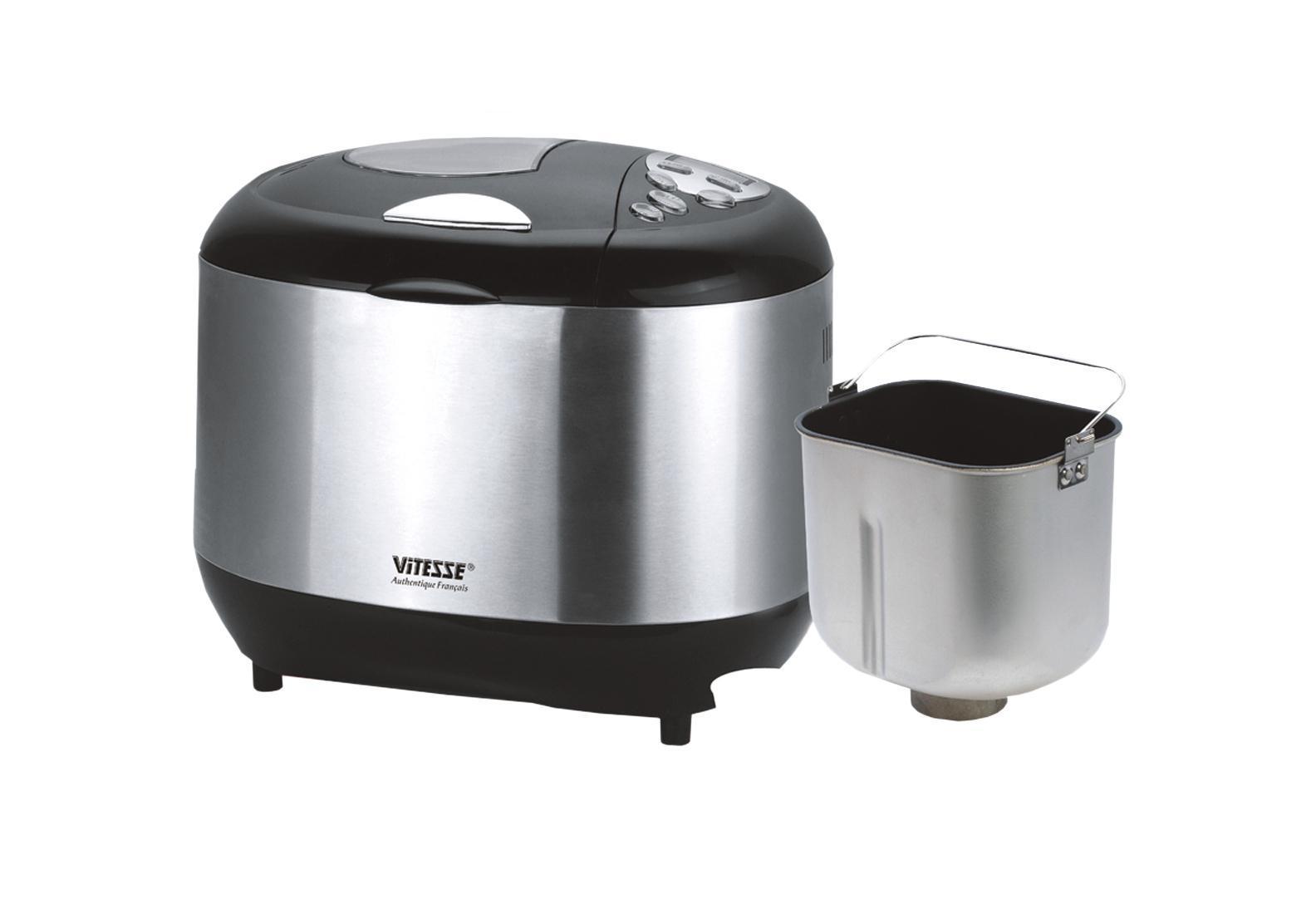 Vitesse VS-428 хлебопечкаVS-428Vitesse VS-428 - вес выпечки 675 г, вес выпечки регулируется, выпечка в форме буханки, выбор цвета корочки, 12 автоматических программ, быстрая выпечка, варка джема...