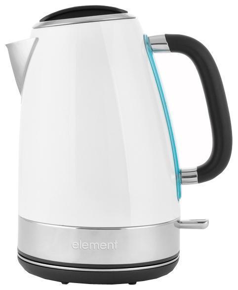 Element ElKettle WF05MWG, White электрический чайникWF05MWGОсобая отделка корпуса создает неповторимый характер данной модели. Другая сторона дизайна этого чайника – его функциональность. Фирменное покрытие CLEAN TOUCH защищает поверхность от следов и отпечатков пальцев. А кипячение сопровождается мягкой белой подсветкой. Бескомпромиссная надежность и долговечность обеспечивается прочным корпусом из нержавеющей стали и комплектующими от проверенных производителей. Удобство использования чайника достигается совокупностью продуманных деталей: подставка- основание с центральным расположением контактной группы OTTER (вращение 360°), остроугольный носик, фильтр от накипи из нержавеющей стали, окошко для визуального контроля уровня воды, прорезиненная поверхность рукоятки. Легкий и беззаботный глянец обладает серьезным потенциалом, чтобы надолго закрепиться на вершине вашего кухонного хит-парада!