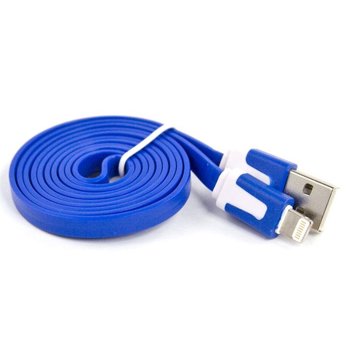 Liberty Project дата-кабель Apple Lightning плоский узкий, Blue (европакет)SM000110Кабель Liberty Project Apple Lightning предназначен для передачи данных с вашего устройства на персональный компьютер, а также зарядки от источников питания с USB выходом.