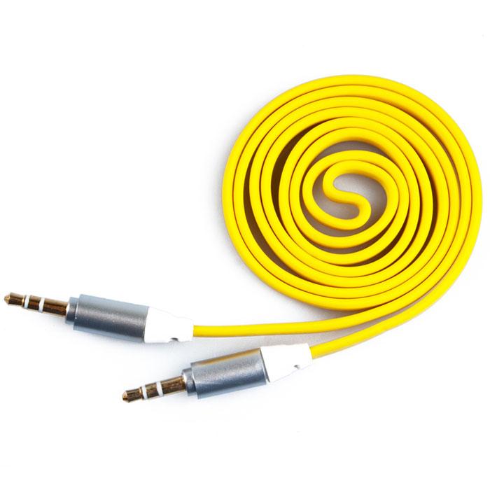 Liberty Project аудиокабель плоский, Yellow (1 м)
