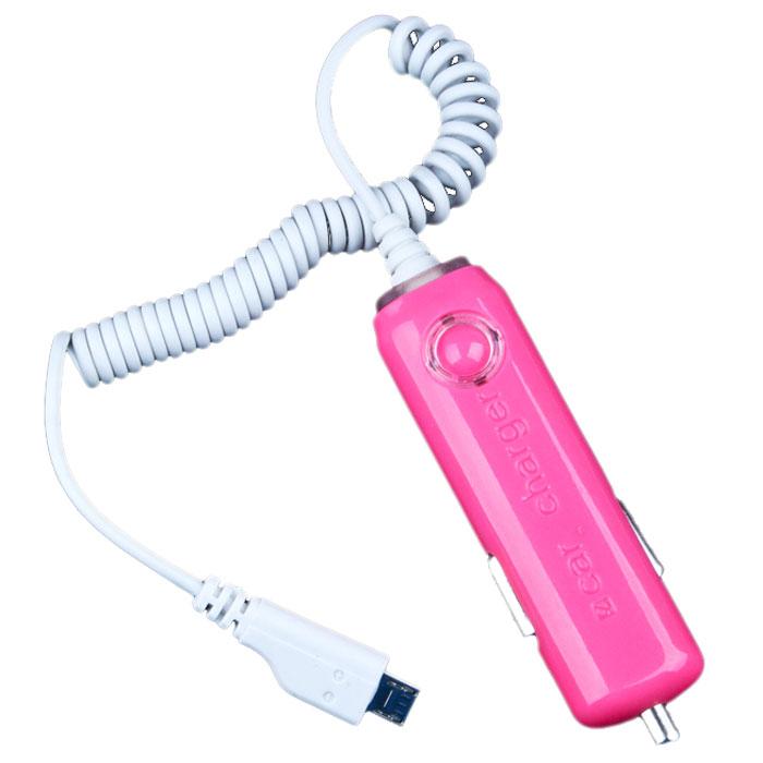 Liberty Project In Car Charger Micro USB, Pink автомобильное ЗУSM001619Автомобильное зарядное устройство Liberty Project In Car Charger Micro USB для смартфонов, планшетных ПК и совместимых устройств.