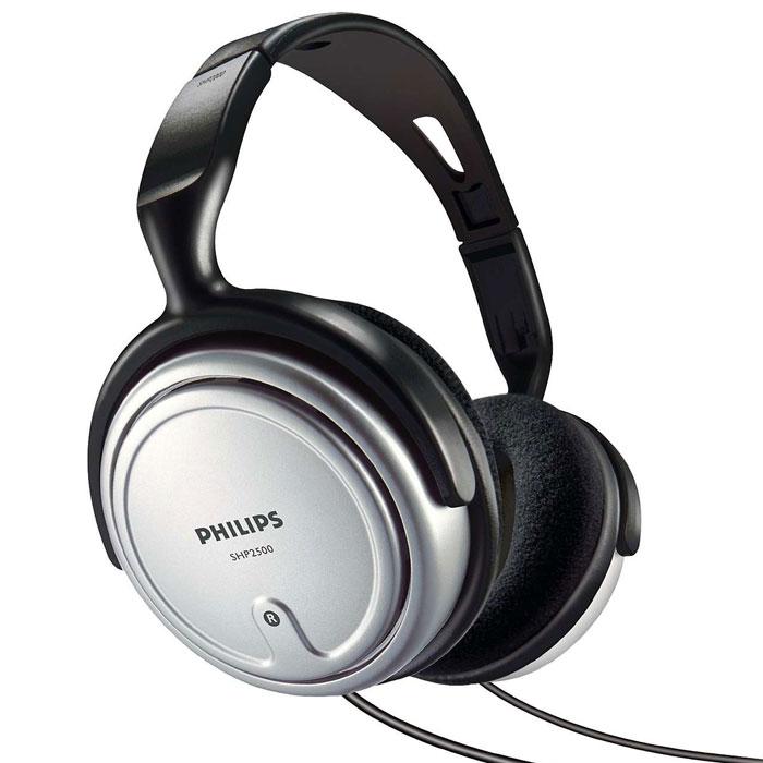 Philips SHP2500/10 наушникиSHP2500/10Полноразмерные наушники Philips SHP2500 с акустическим отражателем, обеспечивающим качественное звучание низких частот для HiFi оборудования.Неодимовые магниты и майларовые мембраны улучшают низкие частоты и чувствительностьМягкие амбюшюры повышают удобство ношения и усиливают низкие частотыХромированный штекер 3.5 мм с переходником 6.3 мм для совместимости со всеми музыкальным устройствамиДлинный шнур позволяет использовать наушники на большом расстоянии от музыкального устройства