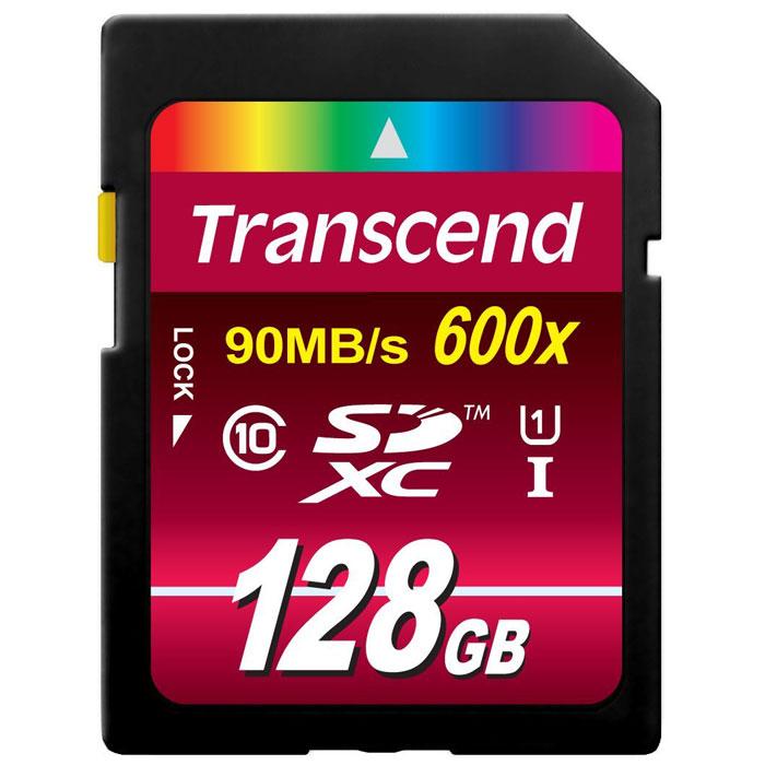 Transcend SDXC Class 10 UHS-I 600x 128GB карта памяти (TS128GSDXC10U1)TS128GSDXC10U1Карты памяти Transcend SDXC Class 10 UHS-I 600x обеспечивают невероятный уровень быстродействия и предоставляют огромный объём памяти профессионалам, которые работают с передовым фото- и видеооборудованием. Эти карты памяти отвечают самым высоким требованиям к записи Full HD видео и изображений в высоком разрешении. Они обеспечивают улучшенную производительность фотокамеры в режиме серийной съемки и плавную запись видео в разрешении Full HD. Встроенная технология ECC предназначена для обнаружения и исправления ошибок при передаче данных. Для восстановления удаленных и утраченных данных с портативных носителей используется эксклюзивная программа RecoveRx.