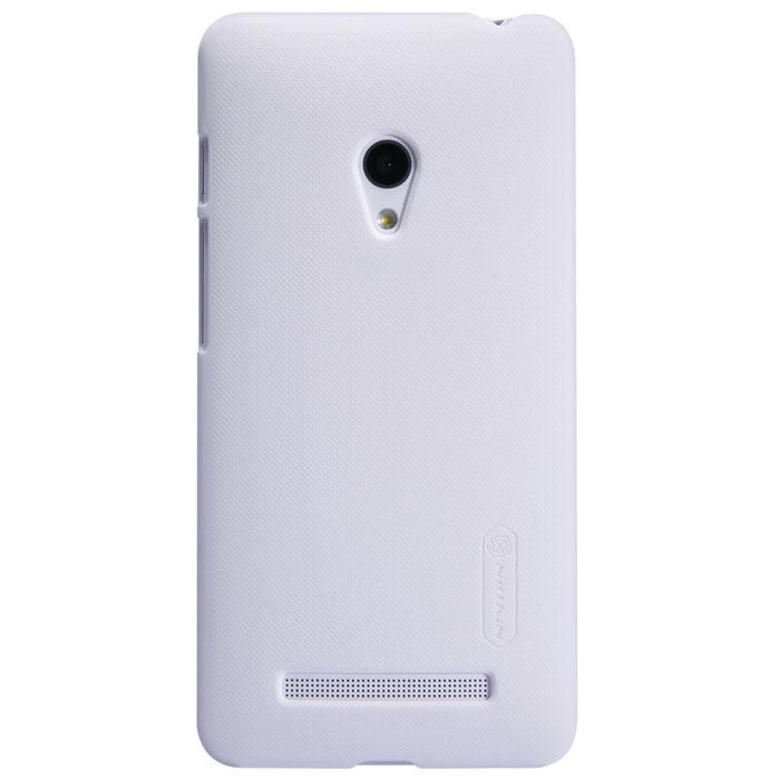 Nillkin Super Frosted Shield чехол для Asus ZenFone 5, White2000000014890Накладка Nillkin Super Frosted Shield выполнена из высококачественного поликарбоната. Она надежно фиксирует и защищает смартфон при падении. Обеспечивает свободный доступ ко всем разъемам и элементам управления.