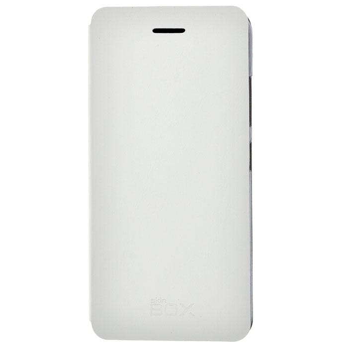 Skinbox Lux чехол для Lenovo S90, White2000000032924Чехол Skinbox Lux выполнен из высококачественного поликарбоната и экокожи. Он обеспечивает надежную защиту корпуса и экрана смартфона и надолго сохраняет его привлекательный внешний вид. Чехол также обеспечивает свободный доступ ко всем разъемам и клавишам устройства.