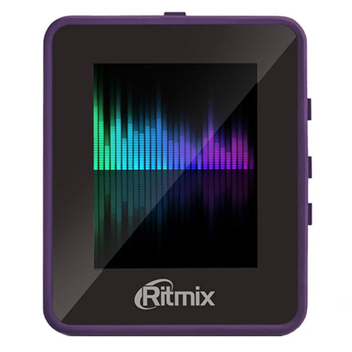Ritmix RF-4150 4Gb, Violet MP3-плеер15117451Ritmix RF-4150 - это компактный MP3-плеер с сенсорным экраном. Проигрыватель прост и удобен в использовании, однако обладает всеми необходимыми функциями. Модель не только воспроизводит аудио, но и поддерживает такие форматы, как AMV, JPEG, BMP и TXT. Также плеер имеет встроенный FM-приемник и диктофон.